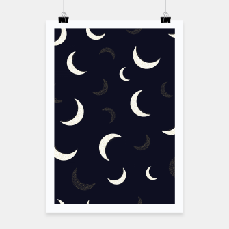 Miniature de image de Shining golden and white colored moon night life pattern Poster, Live Heroes