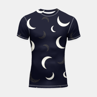 Miniature de image de Shining golden and white colored moon night life pattern Shortsleeve rashguard, Live Heroes