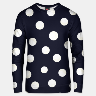 Miniature de image de Shining golden and white colored dots pattern  Unisex sweater, Live Heroes