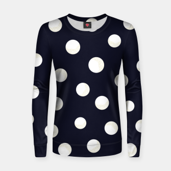 Miniature de image de Shining golden and white colored dots pattern  Women sweater, Live Heroes