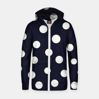Miniature de image de Shining golden and white colored dots pattern  Zip up hoodie, Live Heroes