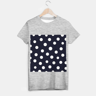 Miniaturka Shining golden and white colored dots pattern  T-shirt regular, Live Heroes