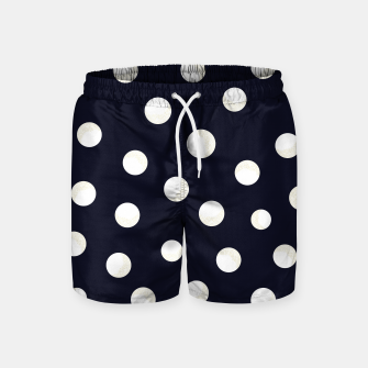 Miniature de image de Shining golden and white colored dots pattern  Swim Shorts, Live Heroes