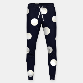 Miniaturka Shining golden and white colored dots pattern  Sweatpants, Live Heroes