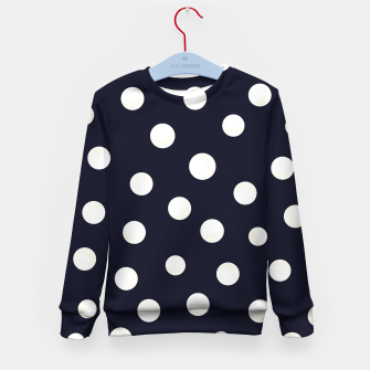 Miniature de image de Shining golden and white colored dots pattern  Kid's sweater, Live Heroes