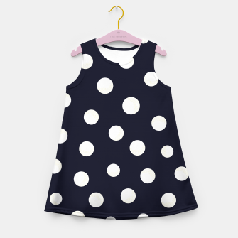 Miniature de image de Shining golden and white colored dots pattern  Girl's summer dress, Live Heroes