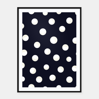 Miniature de image de Shining golden and white colored dots pattern  Framed poster, Live Heroes