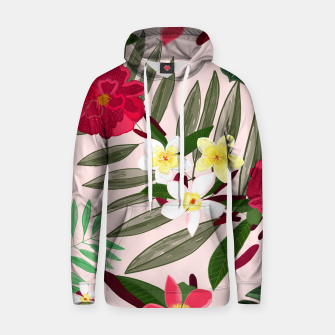 Thumbnail image of Seamless pattern for textile design. Red tropical flowers Hoodie, Live Heroes