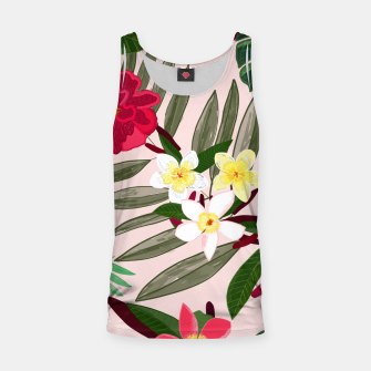 Thumbnail image of Seamless pattern for textile design. Red tropical flowers Tank Top, Live Heroes