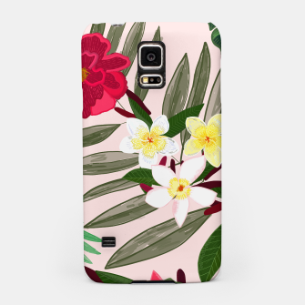 Thumbnail image of Seamless pattern for textile design. Red tropical flowers Samsung Case, Live Heroes