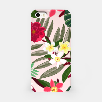 Thumbnail image of Seamless pattern for textile design. Red tropical flowers iPhone Case, Live Heroes