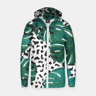Thumbnail image of Seamless pattern for textile design.  Zip up hoodie, Live Heroes