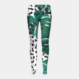 Thumbnail image of Seamless pattern for textile design.  Girl's leggings, Live Heroes