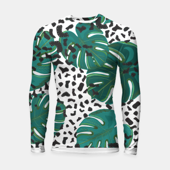 Thumbnail image of Seamless pattern for textile design.  Longsleeve rashguard , Live Heroes