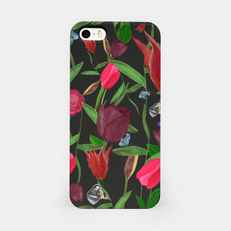 Miniaturka Red, pink and claret red colored tulips with roses and lilly elegant pattern iPhone Case, Live Heroes