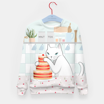 Thumbnail image of Sweet Tea Time on Cat's Kitchen Kid's sweater, Live Heroes