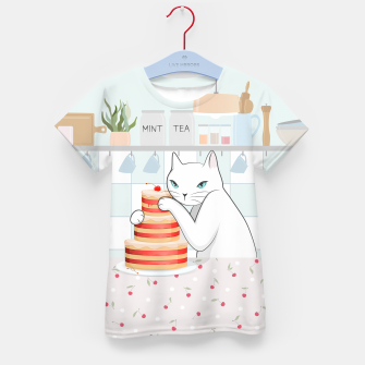 Thumbnail image of Sweet Tea Time on Cat's Kitchen Kid's t-shirt, Live Heroes