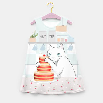 Thumbnail image of Sweet Tea Time on Cat's Kitchen Girl's summer dress, Live Heroes