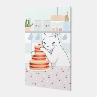 Thumbnail image of Sweet Tea Time on Cat's Kitchen Canvas, Live Heroes