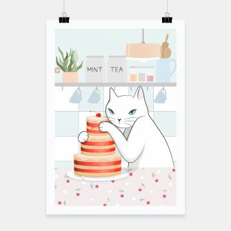 Thumbnail image of Sweet Tea Time on Cat's Kitchen Poster, Live Heroes