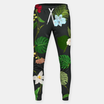 Thumbnail image of New Botanical tropic flowers and tropical leaves  Sweatpants, Live Heroes