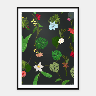 Miniature de image de New Botanical tropic flowers and tropical leaves  Framed poster, Live Heroes