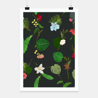 Miniature de image de New Botanical tropic flowers and tropical leaves  Poster, Live Heroes