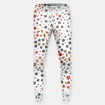 Thumbnail image of Minute Details spring time plum flowers ditsy floral pattern  Sweatpants, Live Heroes