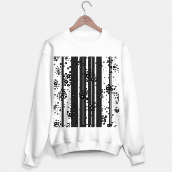 Thumbnail image of  Artistic, Black, Black and white, Cute, Daisy, Ditsy, Hand drawn, Lines, Simple, Spring/summer, Stylised floral, pattern Sweater regular, Live Heroes