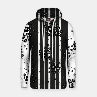 Thumbnail image of  Artistic, Black, Black and white, Cute, Daisy, Ditsy, Hand drawn, Lines, Simple, Spring/summer, Stylised floral, pattern Hoodie, Live Heroes
