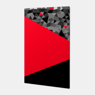 Thumbnail image of Abstrait Triangles Noir/Rouge Toile, Live Heroes