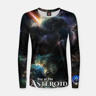 Thumbnail image of Day Of The Asteroid SciFi Fractal Art Women sweater, Live Heroes