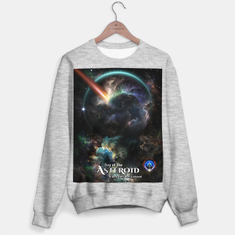 Thumbnail image of Day Of The Asteroid SciFi Fractal Art Sweater regular, Live Heroes