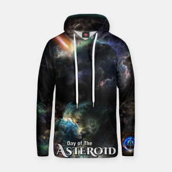 Thumbnail image of Day Of The Asteroid SciFi Fractal Art Hoodie, Live Heroes