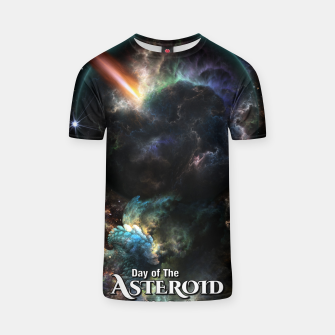 Thumbnail image of Day Of The Asteroid SciFi Fractal Art T-shirt, Live Heroes