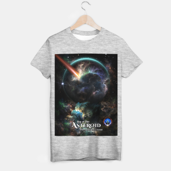 Thumbnail image of Day Of The Asteroid SciFi Fractal Art T-shirt regular, Live Heroes