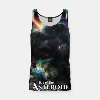 Thumbnail image of Day Of The Asteroid SciFi Fractal Art Tank Top, Live Heroes
