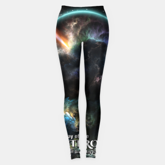 Thumbnail image of Day Of The Asteroid SciFi Fractal Art Leggings, Live Heroes