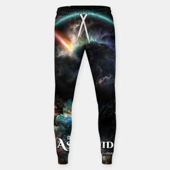 Thumbnail image of Day Of The Asteroid SciFi Fractal Art Sweatpants, Live Heroes
