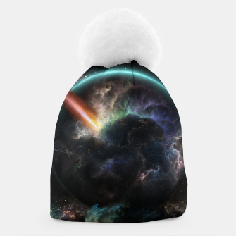Thumbnail image of Day Of The Asteroid SciFi Fractal Art Beanie, Live Heroes