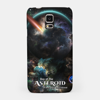 Thumbnail image of Day Of The Asteroid SciFi Fractal Art Samsung Case, Live Heroes