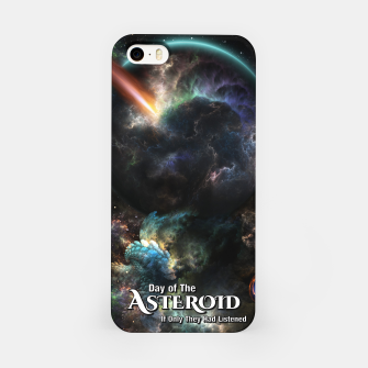 Thumbnail image of Day Of The Asteroid SciFi Fractal Art iPhone Case, Live Heroes
