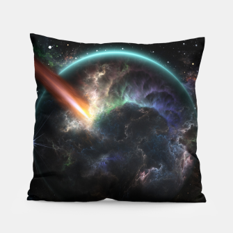 Thumbnail image of Day Of The Asteroid SciFi Fractal Art Pillow, Live Heroes