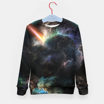 Thumbnail image of Day Of The Asteroid SciFi Fractal Art Kid's sweater, Live Heroes