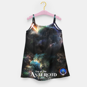 Thumbnail image of Day Of The Asteroid SciFi Fractal Art Girl's dress, Live Heroes
