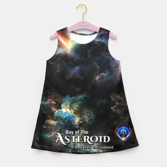 Thumbnail image of Day Of The Asteroid SciFi Fractal Art Girl's summer dress, Live Heroes