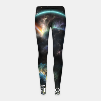 Thumbnail image of Day Of The Asteroid SciFi Fractal Art Girl's leggings, Live Heroes