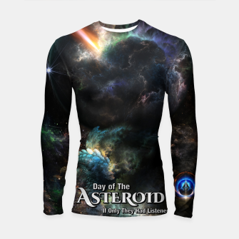 Thumbnail image of Day Of The Asteroid SciFi Fractal Art Longsleeve rashguard , Live Heroes