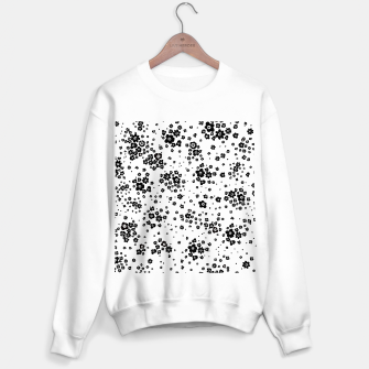 Thumbnail image of Minute details Black and white artistic wild ditsy flowers pattern Sweater regular, Live Heroes
