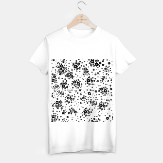 Thumbnail image of Minute details Black and white artistic wild ditsy flowers pattern T-shirt regular, Live Heroes